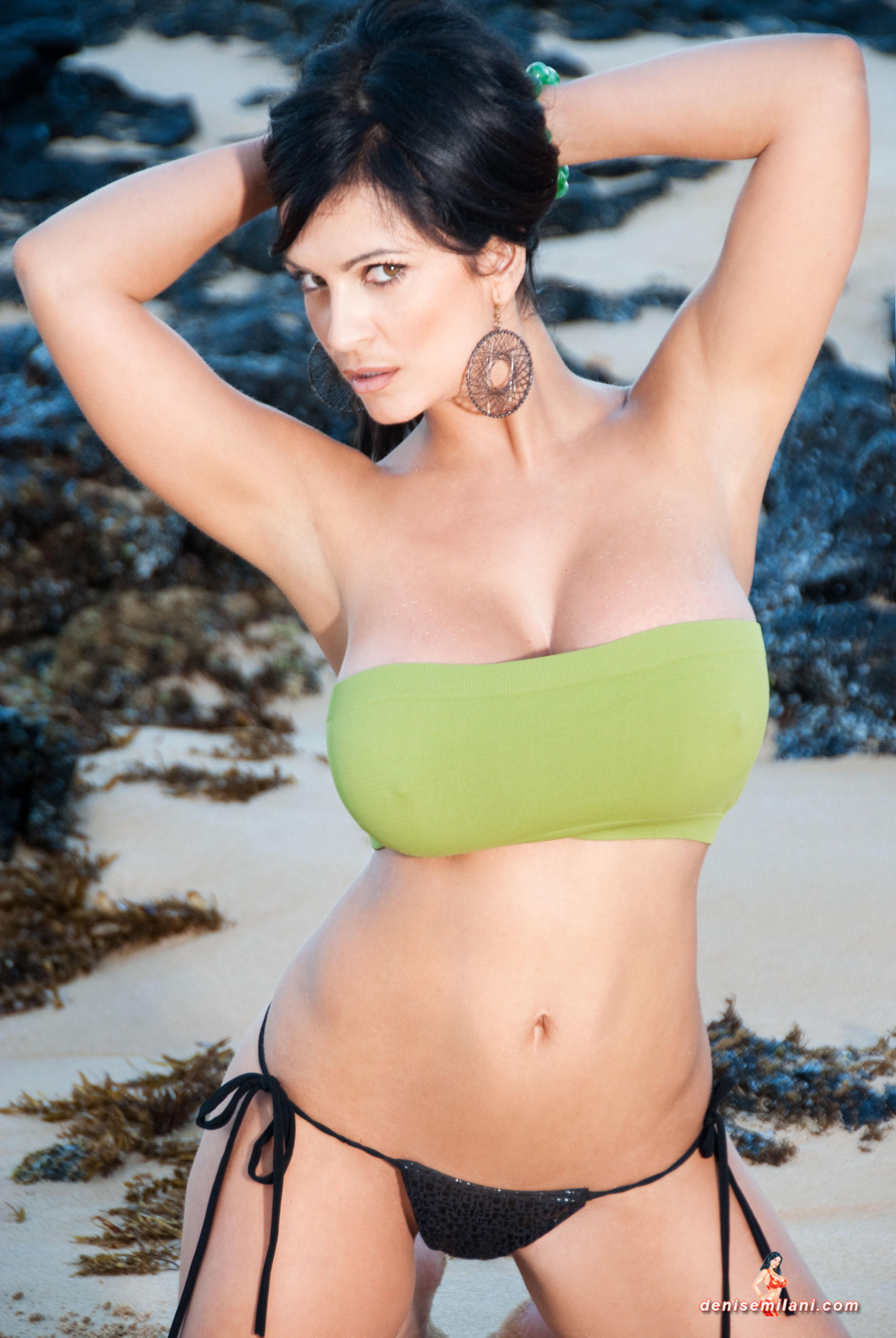 Can, Denise milani white bikini pity