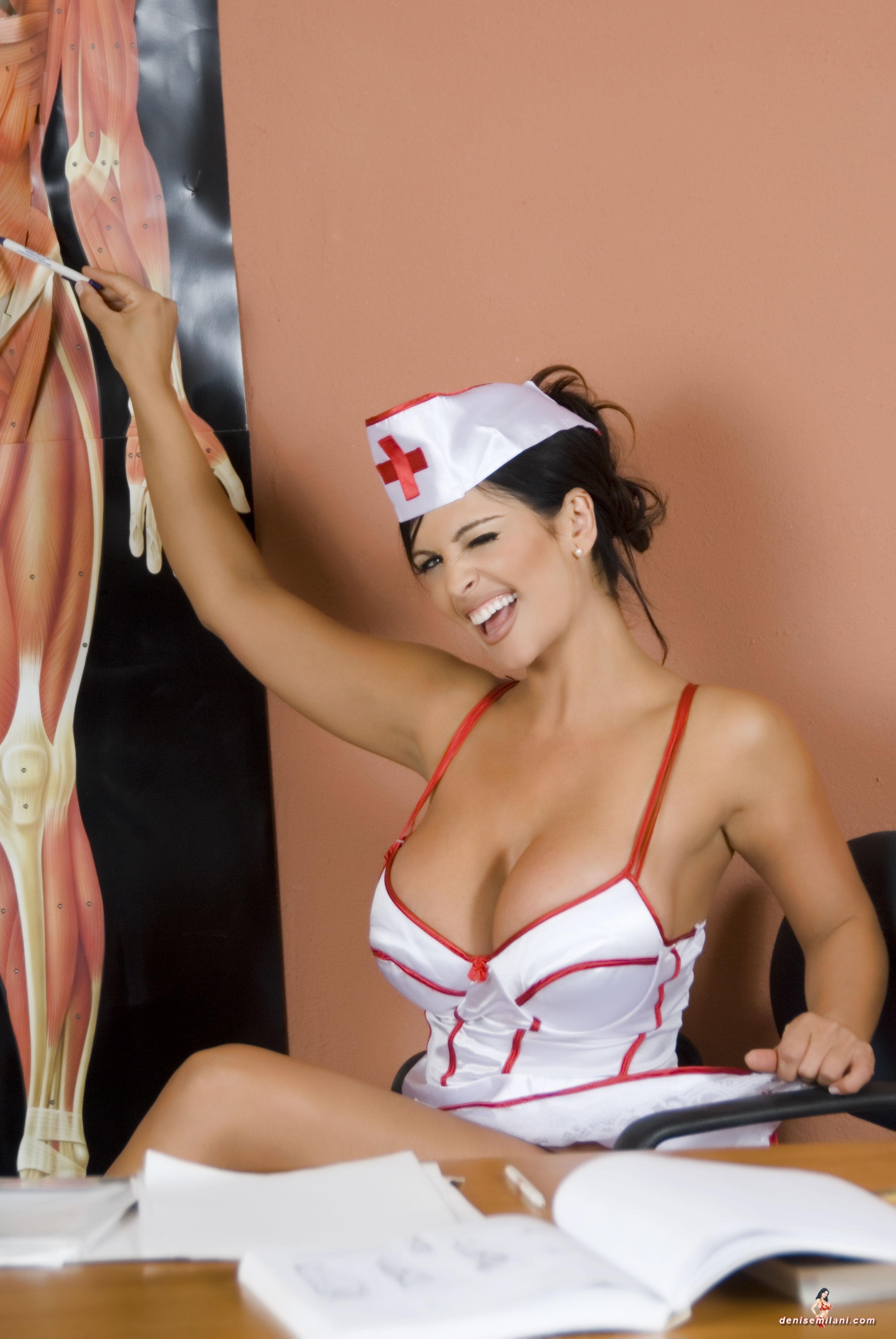 Big tit nurse starts her new job